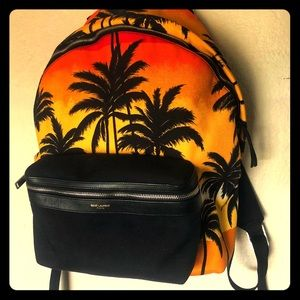 Saint Laurent SS16 Palm Tree Hunting Backpack